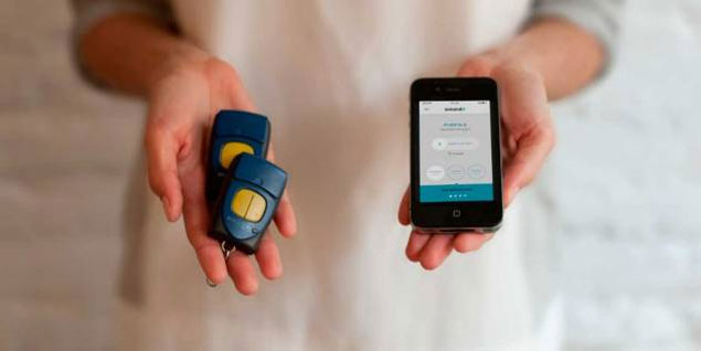 Crean una app para abrir las puertas desde el móvil