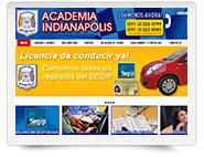 Diseño Web Pymes - portada web de Academia Indianapolis