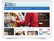 Diseño Web Pymes - portada sitio web Cámara del Libro Santa Cruz