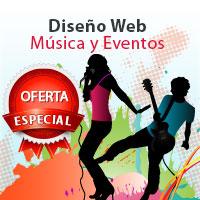 Precio diseño web para musica eventos