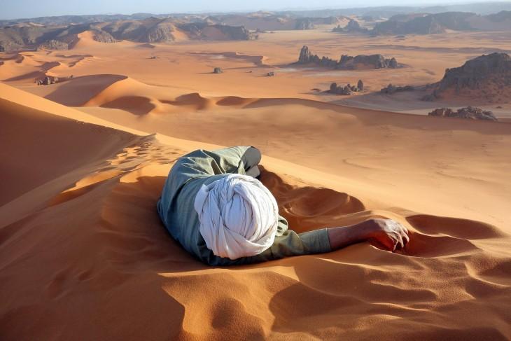 descanso en el desierto del Sahara