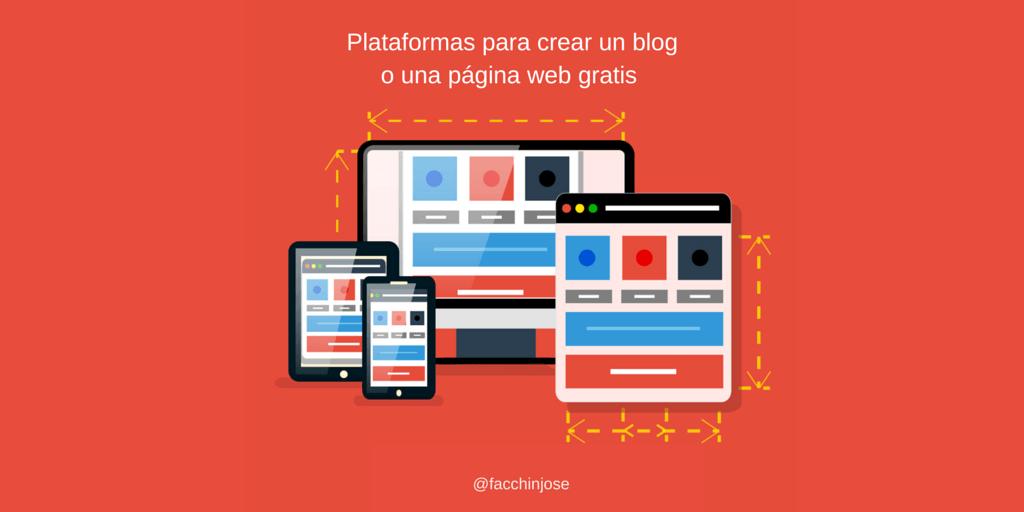 10 plataformas para crear un blog gratis o una página web
