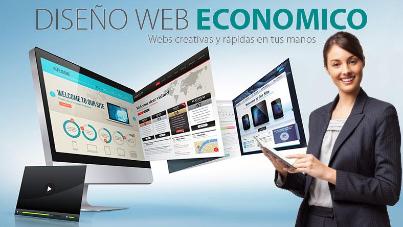 Diseño Web Económico ,paginas web creativas en tus manos
