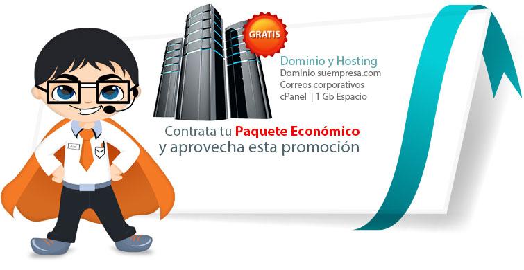 Oferta Diseño Web Económico con dominio y hosting gratis