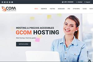 screen sitios web gcom hosting