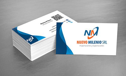 tarjeta personal nuevo milenio